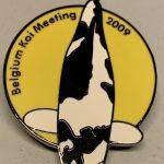 Koi@Home Belgium koi Meeting 2009 Show pin yellow