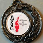 Australian Koi Association Medal pin Silver