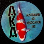 Australian Koi Association trophy pin Ginrin A (Kohaku)