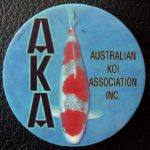Australian Koi Association trophy pin Goshiki