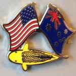 Australian USA Matsuba friendship pin