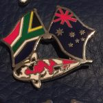 South African Australian Showa friendship pin