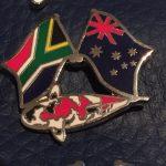 South African Australian Showa friendship pin