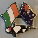 Australian Ireland Tancho Showa friendship pin