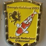 Koi Club Nederland 2015 yellow shield