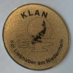 KLAN large metal Trophy pin darker gold