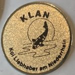 KLAN small metal Trophy pin