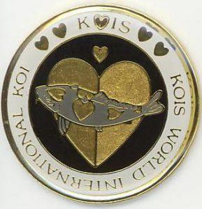 Kois World International Koi gold/gold on black