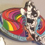 Rainbow River Koi Club pin Misprint, missing color