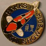 Eastern Cape Chapter Koi Show pin 2014. (Goshiki)