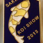 Gauteng Chapter Young Koi Show pin 2013. (Hariwake)