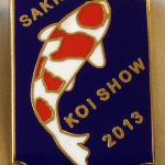 Western Cape Chapter Koi Show pin 2013. (Kohaku)