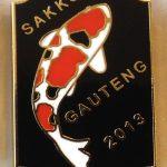 Gauteng Chapter Koi Show pin 2013. Visitors Black (Sanke)