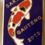 Gauteng Chapter Koi Show pin 2013. Entrants Blue (Sanke)