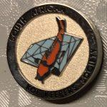 SAKKS PIN - Kohaku on blue diamond, small pin.