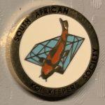SAKKS - Kohaku on blue diamond, white background - 15 year small pin