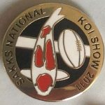 SAKKS NATIONAL Show pin 2011 - for Visitors (Kohaku)