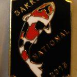 SAKKS NATIONAL Show pin 2013 - for Visitors (Black)