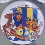 The three Vikings Button