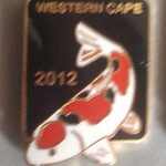Western Cape Chapter Koi Show pin 2012. Entrants (Black)