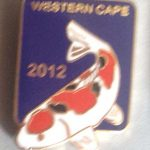Western Cape Chapter Koi Show pin 2012. Visitors (Blue)