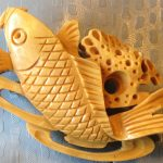 Japanese Handmade Wooden Koi pin