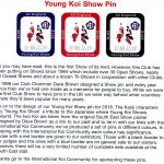 South East Showprogram 2018 Young koi show