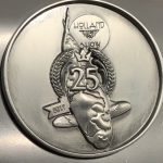 25th Holland Koi Show 2017 the 25th Anniversary mat silver Plaque pin