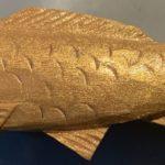 Japanese Handmade Wooden Koi pin - Chagoi