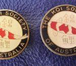 KSA original pin / horizontal Kohaku with Epoxy finish