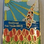 23rd Holland Koi Show 2015 red tulips gold outline