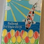 23rd Holland Koi Show 2015 red-yellow tulips silver outline