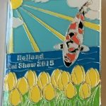 23rd Holland Koi Show 2015 yellow tulips silver outline