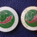 Australian Koi Association Silver Lettering (Left)