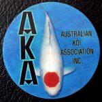 Australian Koi Association trophy pin Tancho