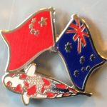 Australian China Goshiki friendship pin