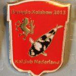 Koi Club Nederland 2013 Shiro Utsuri on Red