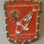 Koi Club Nederland 2015 Red shield