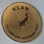 KLAN large metal Trophy pin darker gold