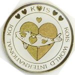 Kois World International Koi gold/gold on white