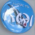 Button I Love My Koi Blue