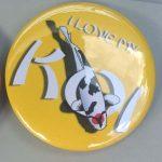 Button I Love My Koi Yellow