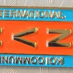 International Koi Community aka NVN pin orange/blue
