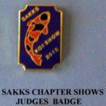 SAKKS Chapter Koi Show 2013 Judges pin (Hi Utsuri)