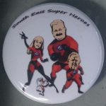 The South East Super Heroes button