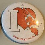 Takazumi I love button Kohaku