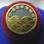 ZNA 2000 35 Anni Gold pin, 24k pin on 18k stage red velvet4k pin on 18k stage blue velvet
