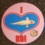 San Diego button I love Koi