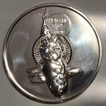 25th Holland Koi Show 2017 the 25th Anniversary shiny silver Plaque pin