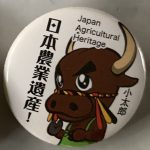 Japan Agricultural Heritage Niigata promotional button 2